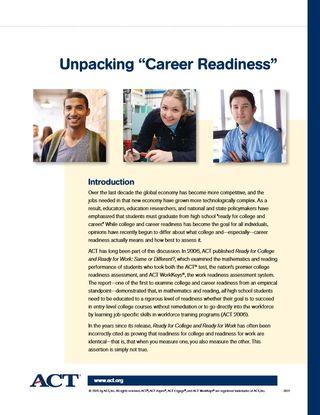 ACT-UnpackingCareerReadiness
